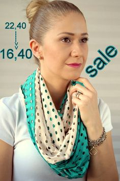 SALE infinity scarf summer scarf spring by ChamomileAccessories