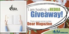 Learning Table is happy to be hosting a giveaway of a one-year subscription to a new magazine for young women--Dear. Come check it out!