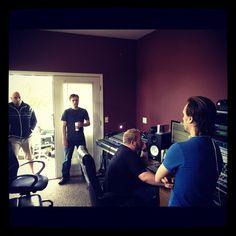 older pic in studio recording new music