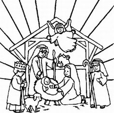 free nativity coloring page sunday school school and printable coloring sheets - Printable Nativity Coloring Pages
