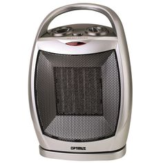 Small Ceramic Heater with Thermostat Portable Oscillating Space Heating Electric #Optimus