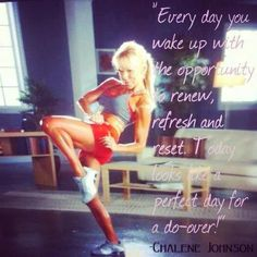My favorite @Chalene Johnson says it best! I woke up sore as heck from starting Chalean Extreme again yesterday. Did my Brazil Butt Lift this morning & it was so much fun!! I think I'm meant to be Latin haha. I love the dancing with a salsa flavor!! Loveeeee it!!! ❤
