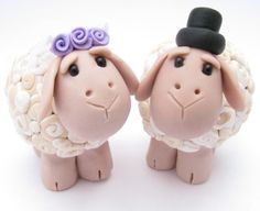 Sheep love, wedding cake topper  by:-yaels