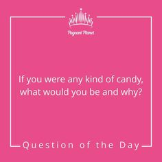 Friday is officially here! Start it out right with your Answer as you would in interview for a chance to be featured in… Beauty Pageant Questions, Pageant Interview Questions, Pageant Tips, Miss Pageant, Beauty Queen Tips, Beauty Queens, Why Questions, This Or That Questions, Miss Pennsylvania