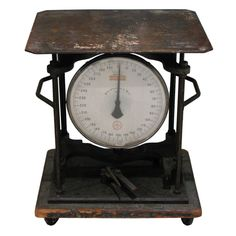 Industrial Scale Table  American  circa 1900-1920's  Industrial Scale Table    John Chatillon & Sons weighing scale. Company dates back to 1835 in NYC.