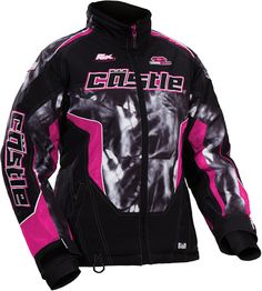 Castle X Jacket Youth Bolt Magenta Medium
