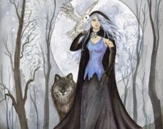 hecate goddess | Hecate Goddess of Witchcraft and Magic by lorikarels on Etsy
