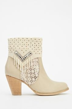 Embellished Heeled Boots