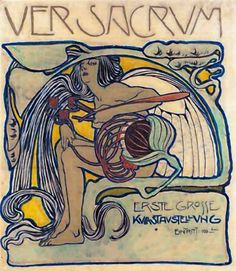 Poster for Ver Sacrum ~ Koloman Moser - Albertina Museum, Vienna.