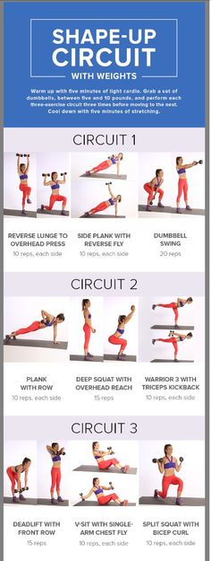 Pop Sugar Bikini Shape Up Circuit with Weights