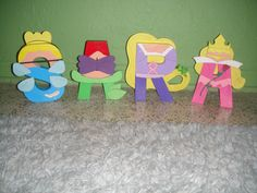 Disney princess Letter Art by GunnersNook at Etsy.com Disney Princess Letter, Disney Letters, Princess Theme, Disney Crafts, Disney Art, Lettering Design, Hand Lettering, Diy And Crafts, Arts And Crafts