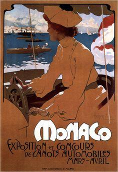 Vintage et cancrelats: Adolph Hohenstein : Exposition Monaco, 1900