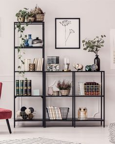Shelf Decor Living Room Bookshelf Styling Ideas With so many choices, you might have plenty of room to have fun with what you think would look best fo. Styling Bookshelves, Bookshelves In Living Room, Bookshelf Ideas, Bookcases, Lp Regal, Image Deco, Declutter Your Home, My New Room, Living Room Decor
