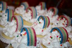 "Noah's Ark Party - Rainbow Cupcakes (Using Airheads ""Xtremes"") to Form the Rainbow"