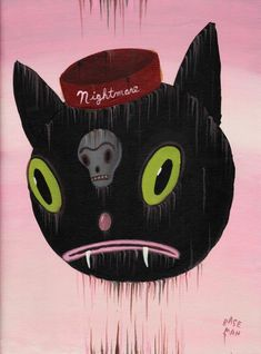 """Nightmare and the Cat - Acrylic on canvas, 2011, 16"""" x 12"""""""