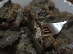 Ravioli+di+grano+saraceno+mandorle,+ricotta+e+funghi