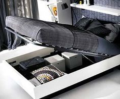 Hydraulic Storage Bed by BoConcept.Storage beds can get frustrating. But the hydraulic storage bed by BoConcept makes it easy. Boconcept, Under Bed Storage, Hidden Storage, Storage Beds, Extra Storage, Small Apartments, Small Spaces, Cool Furniture, Furniture Design