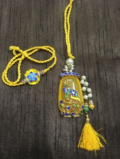 Rakhi Bracelet, Raksha Bandhan Images, Handmade Rakhi, Rakhi Design, Tassel Necklace, Pendant Necklace, Diy Furniture, Artworks, Jewellery