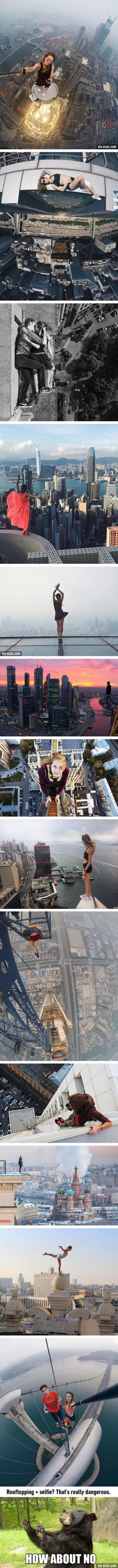 Hero!! ❤️ This Russian Girl Does Rooftopping And Takes The Riskiest Selfies Ever (Angela Nikolau)