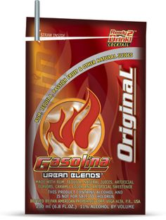 Gasolina original - Gasolina Urban Blends- Puerto Rican drinks