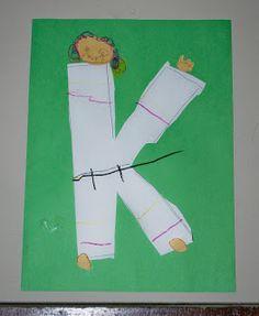 K for karate chop...