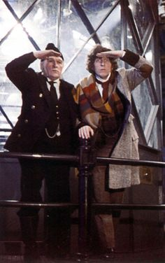 Tom Baker as the Doctor in The Horror of Fang Rock.