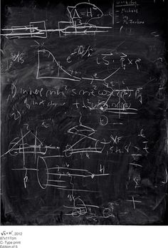 No pixels here - a quantam physics lab blackboard: from a collection of photos by Alejandro Guijarro