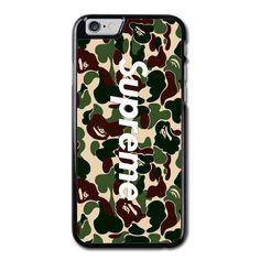 47f2054022 Supreme X A Bathing Ape Bape Camo Phonecase For iPhone 6/6S Case Ipadケース,