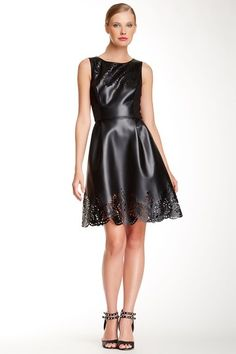Pleather Fit & Flare Dress by Betsey Johnson on @HauteLook