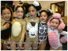 I made these adorable costume for a dance routine and I won the Best Costume Award.