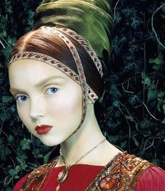 """Vogue Italia in 2005, by Mile Aldridge of Lily Cole. The editorial was called """"Like a Portrait""""."""
