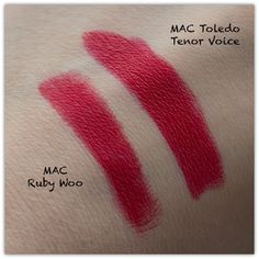 MAC Ruby Woo vs Tenor Voice