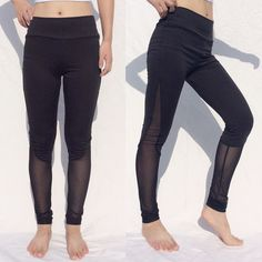 Mesh Patchwork With Bag Quick Drying Fitness Trousers Outdoor Running Sports Yoga Pants Gym Leggings Elastic Leggings
