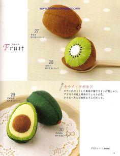 Felt Food Toys Pattern/Felt Fruits/Felt by Bielleni on Etsy