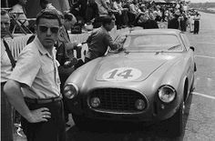 1952 LM. Rare shot of 5th place Ferrari 340 America (#14). It was a private entry (Luigi Chinetti Team) so I guess there weren't many photographers available to cover the privateers in those days.