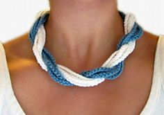 Chunky Twist Necklace - free crochet pattern by Megan Denham