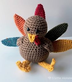 Mesmerizing Crochet an Amigurumi Rabbit Ideas. Lovely Crochet an Amigurumi Rabbit Ideas. Crochet Pumpkin, Crochet Fall, Holiday Crochet, Crochet Round, Cute Crochet, Beautiful Crochet, Thanksgiving Crafts To Make, Thanksgiving Crochet, Thanksgiving Turkey