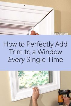 Here are some pro tips for cutting perfect miters for window trim.