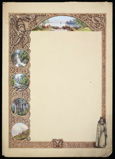 Original watercolour artwork for border of Maori design of the appearance of carved wooden figures and motifs, and a Maori woman standing in tradit. Maori Designs, Maori Art, Decorative Borders, Watercolor Artwork, Art Forms, Original Artwork, Carving, Contemporary, Cards
