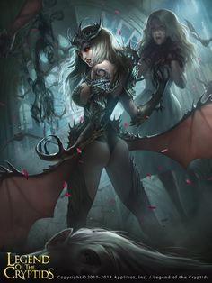 Artist: Chin Jing Hui aka zeen84 - Title: Charlene of the Vampire Agency Adv - Card: Sharin the Vampire (Classification)