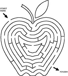 Printable Mazes - Best Coloring Pages For Kids Printable Mazes, Free Printables, Printable Coloring, Maze Games For Kids, Childhood Cancer Awareness Month, Hebrew School, Apple Theme, Maila, Adam And Eve