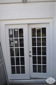 Installing French Doors - Just Us Four