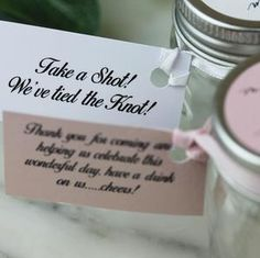 Personalised Shot Jars filled with Pink Gin or Limoncello For Wedding – Hearth and Heritage Wedding Favour Jars, Wedding Favors Cheap, Craft Wedding, Personalized Labels, Personalized Wedding, One Sweet Day, Mini Mason Jars, Coffee Candle, Limoncello