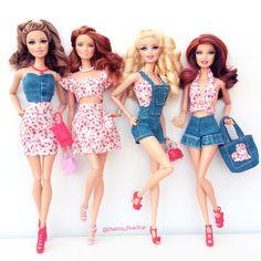 handmade collection by stellita PinkStar for Barbie dolls  conjuntitos realizados a mano por Stellita PinkStar