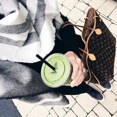 A green juice totally balances out a bagel  cream cheese right  And yeah I know it may not totally be scarf weather yet but Im wearing all black and needed a pop of something so I dont look like a sprocket  PS  this scarf is a fav of mine and is only  Shop my whole look here or head to my blog  you can easily shop my IG from there too  httpliketkitpiVC  liketoknowit liketkit