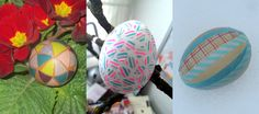 nauli: 3 creative Washi Tape eggs #easter #maskingtape