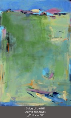 Abstract Landscape Painting Acrylic painting on canvas -original fine art-affordable art. $1,750.00, via Etsy.