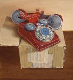 "Daily Paintworks - ""Voicephone"" - Original Fine Art for Sale - © Susan Fern"