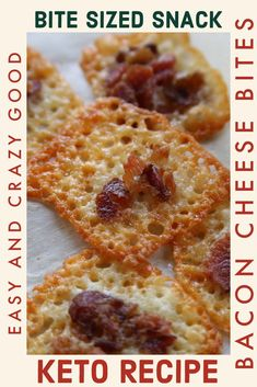 I can still hear the sizzle of the cheese and smell the smell of the bacon. This Jalapeno Bacon Cheese Crisps Recipe is the perfect Keto snack. Low Carb Appetizers, Low Carb Desserts, Low Carb Recipes, Ketogenic Recipes, Cheese Crisps, Keto Cheese, Stuffed Jalapenos With Bacon, Jalapeno Bacon, Bite Size Snacks