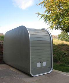 beautiful, functional and secure aluminium bike storage by Iniko